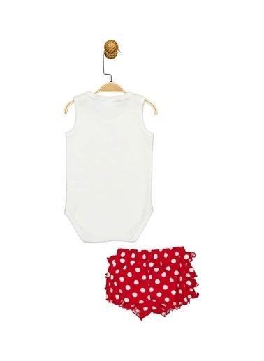 Minnie Mouse Lisanslı Bebek Takım 17354 Beyaz
